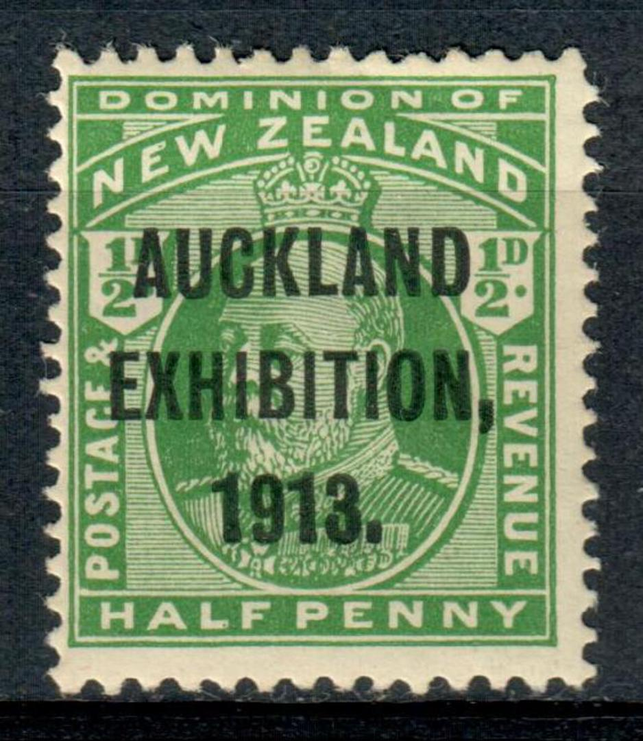 NEW ZEALAND 1913 Auckland Exhibition ½d Green. - 3658 - LHM image 0