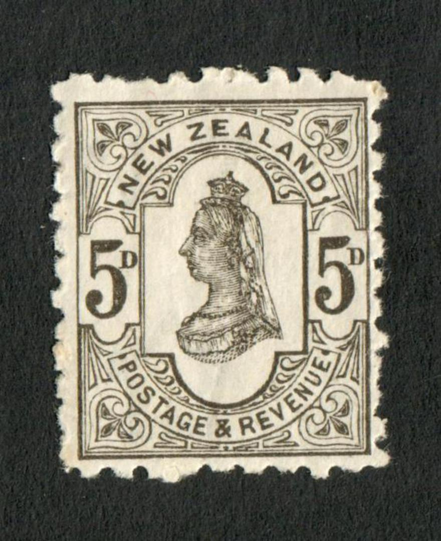 NEW ZEALAND 1882 Second Sideface 5d Olive-Black. Rotary Perf 10x11. - 4221 - UHM image 0