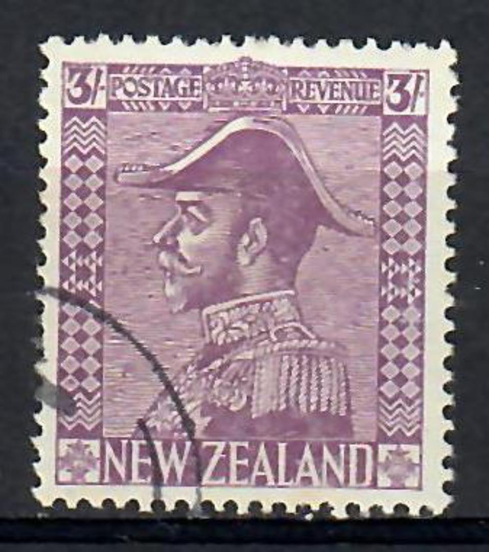 NEW ZEALAND 1926 Geo 5th Definitive 3/- Pale Mauve. - 74120 - CTO image 0