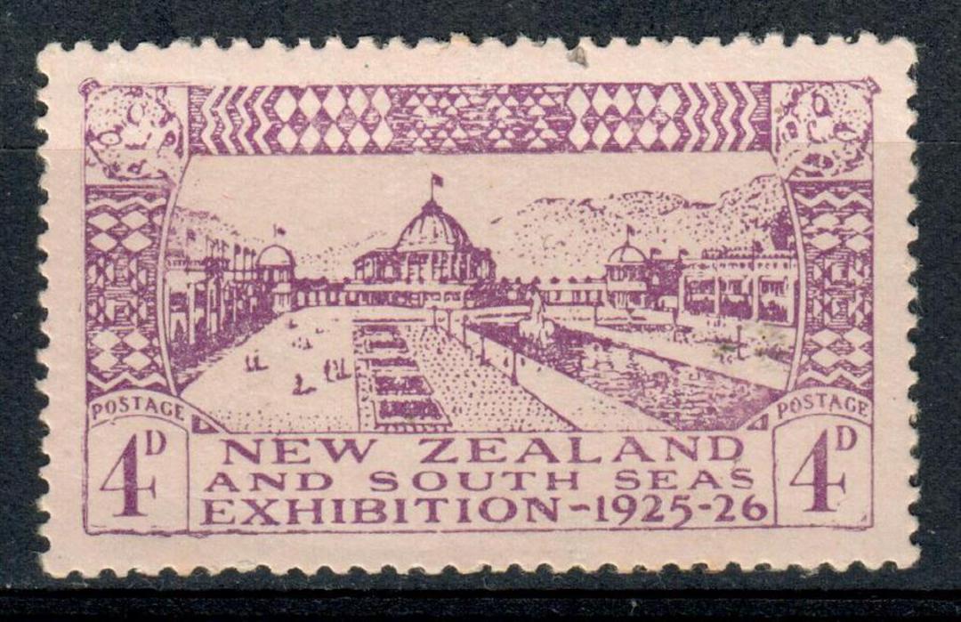 NEW ZEALAND 1925 Dunedin Exhibition 4d Mauve. - 140 - UHM image 0