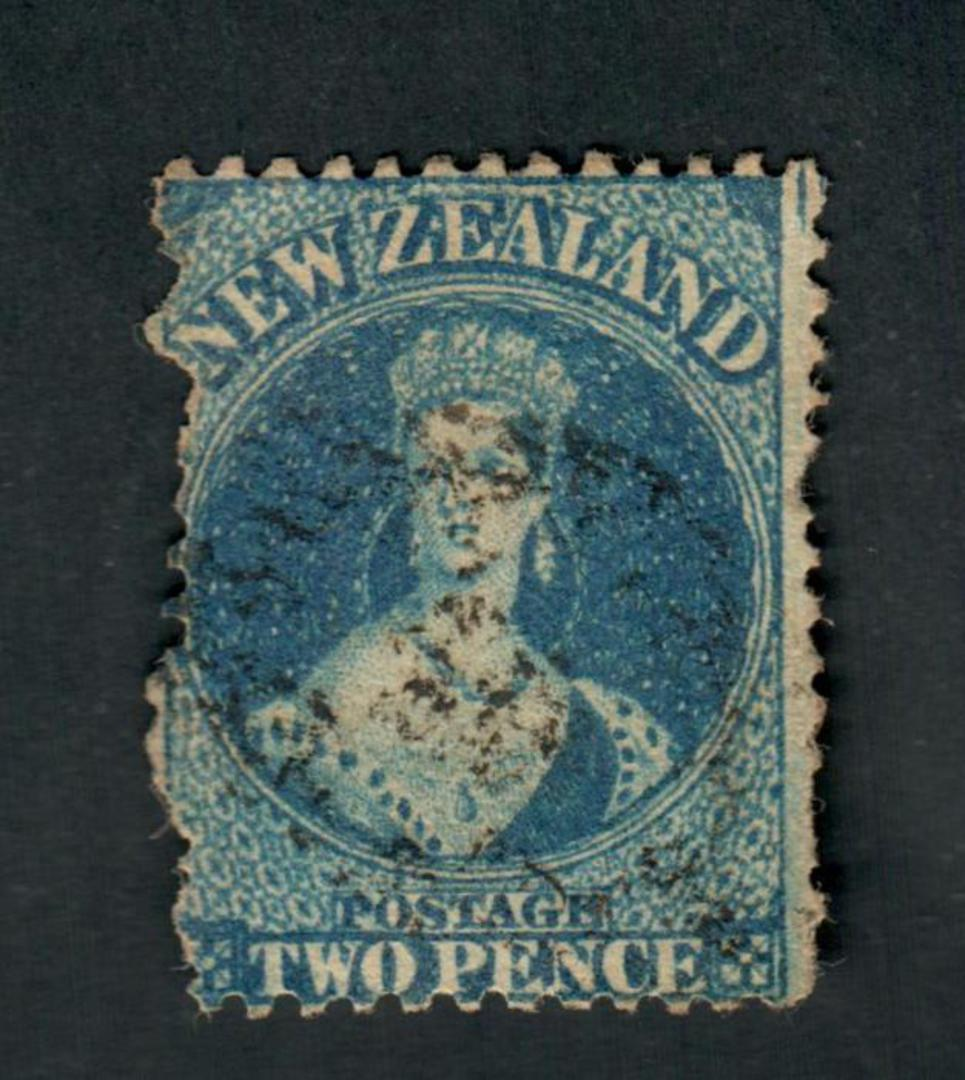 NEW ZEALAND 1862 Victoria 1st Full Face Queen 2d Blue. Not too bad. - 39015 - Used image 0