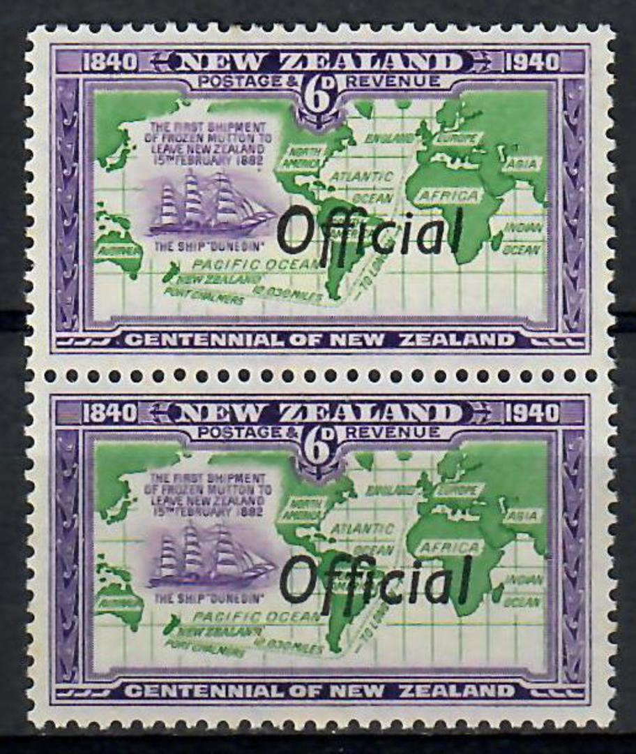 NEW ZEALAND 1940 Centennial Official 6d Map with Joined ff flaw. - 74124 - Mint image 0