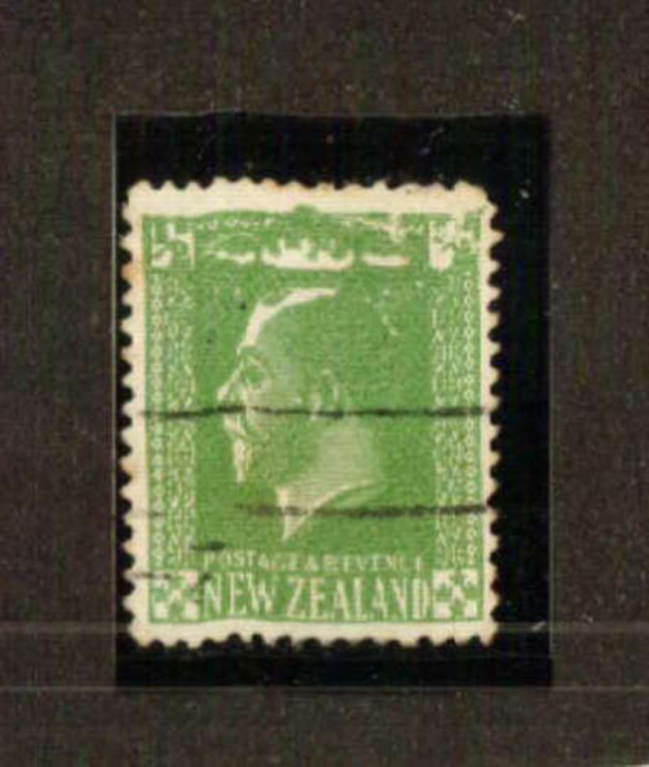 NEW ZEALAND 1915 Geo 5th Definitive ½d with extreme plate wear probably from the booklet. - 71321 - Used image 0