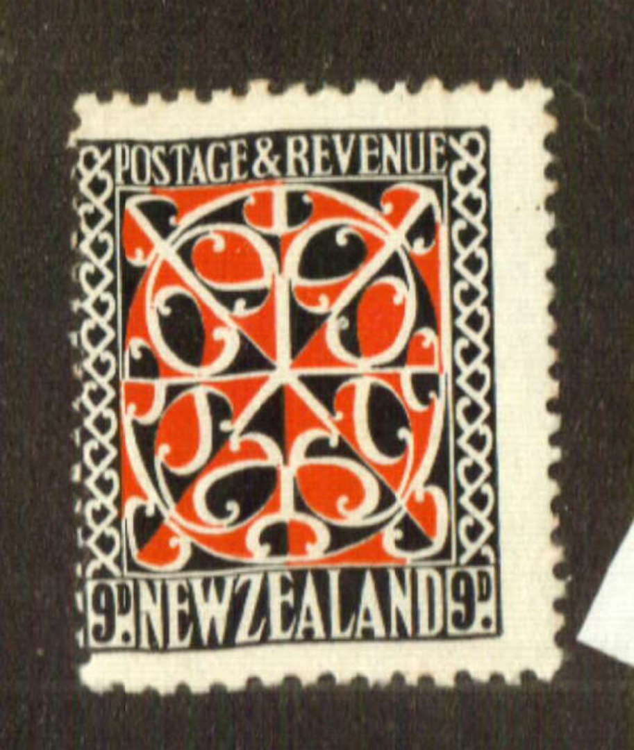 NEW ZEALAND 1935 Pictorial 9d Scarlet and Jet-Black. Perf 14 x 14.5. Smaller design. Single Watermark. - 74736 - UHM image 0