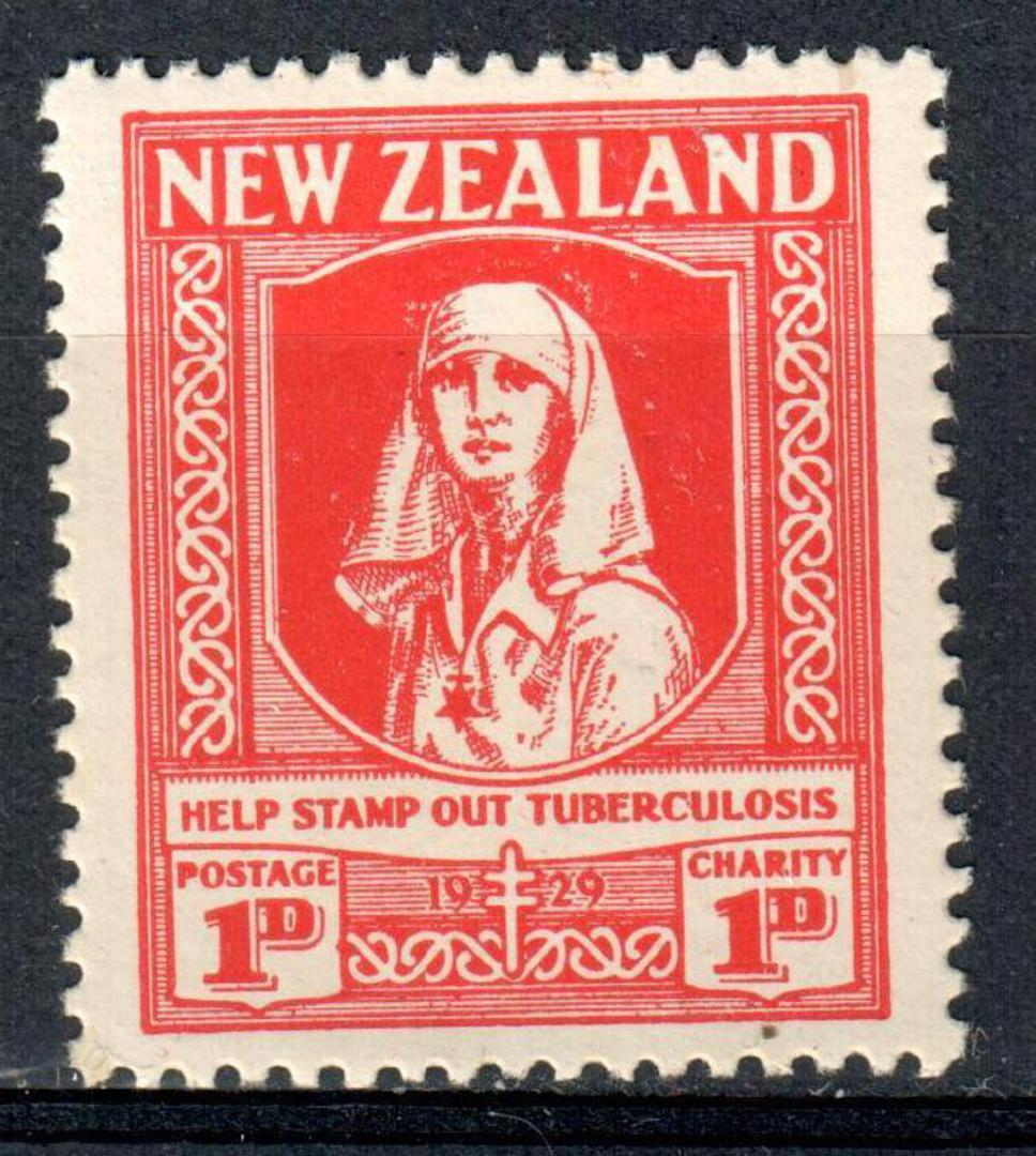 NEW ZEALAND 1929 Health 1d Red. Help stamp out tuberculosis. - 19229 - UHM image 0
