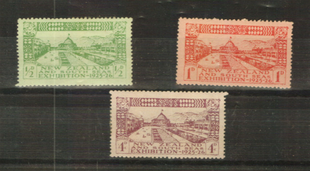NEW ZEALAND 1925 Dunedin Exhibition. Looks good from the front but hinge remains on the 4d. Priced to sell. - 24022 - Mint image 0