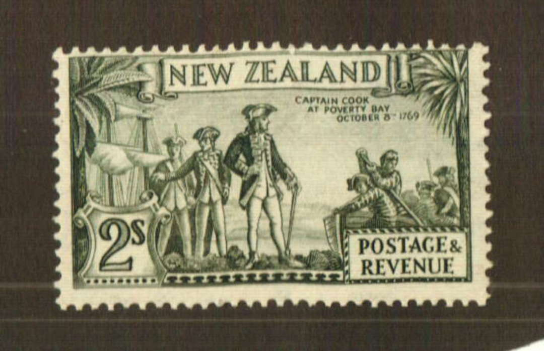 NEW ZEALAND 1935 Pictorial 2/- Captain Cook. Perf 13.75 x 13.5. - 74770 - LHM image 0