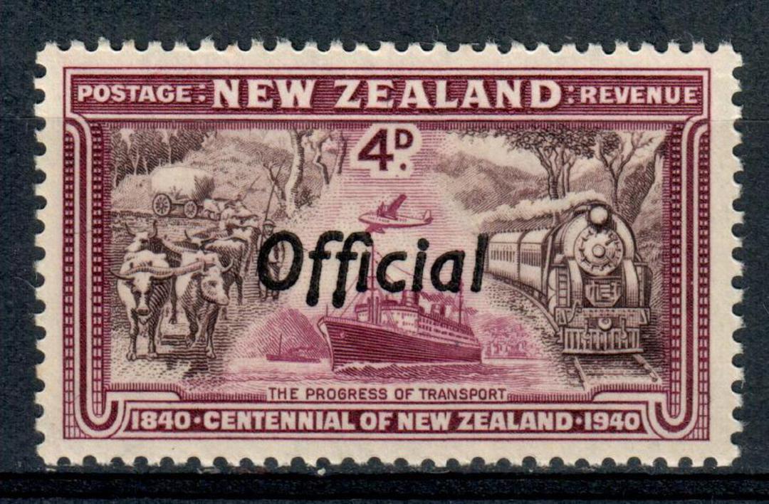 NEW ZEALAND 1940 Centennial Official 4d Transport. - 245 - UHM image 0