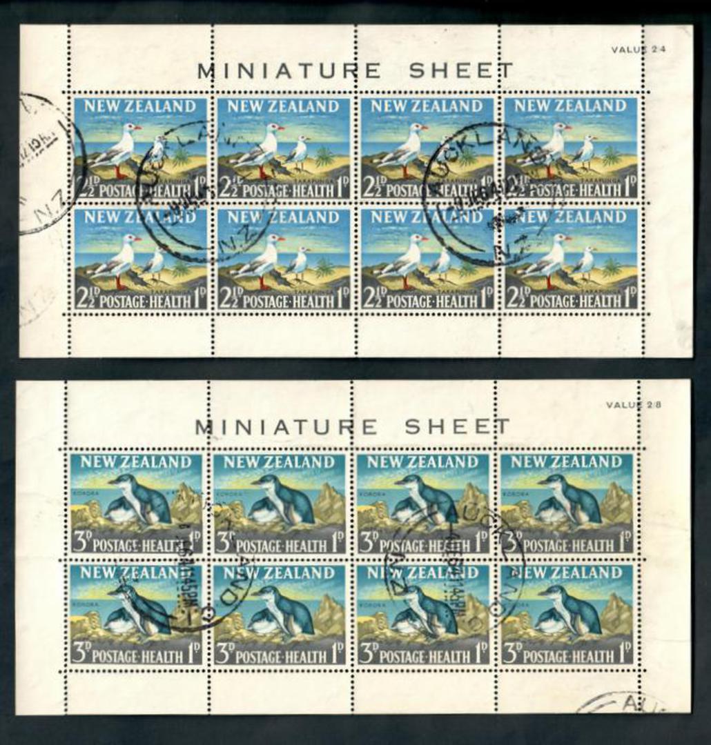 NEW ZEALAND 1964 Health. 2 miniature sheets. - 50153 - FU image 0