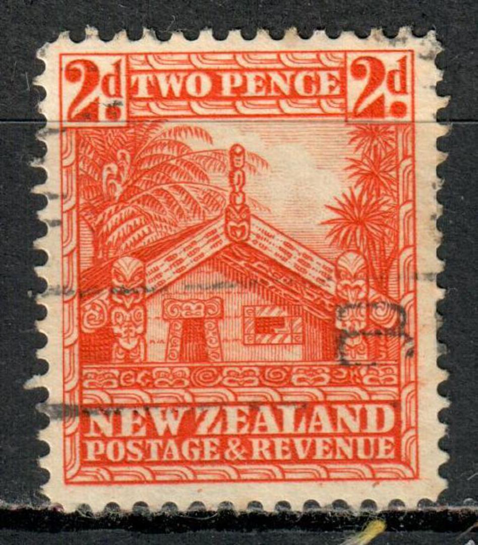 NEW ZEALAND 1935 Pictorial 2d Orange. Multiple watermark. Perf 14x15. - 4160 - Used image 0