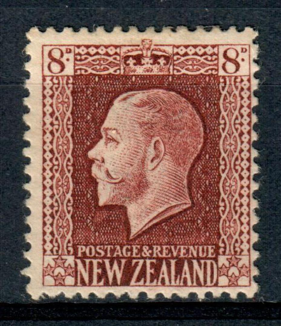 NEW ZEALAND 1915 Geo 5th Definitive 8d Brown. - 4303 - Mint image 0