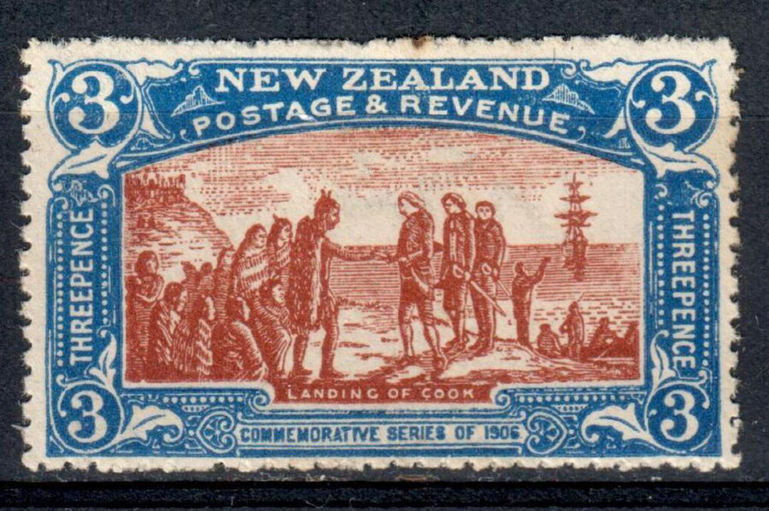 NEW ZEALAND 1906 Christchurch Exhibition 3d Landing of Cook. Excellent copy. - 74190 - LHM image 0