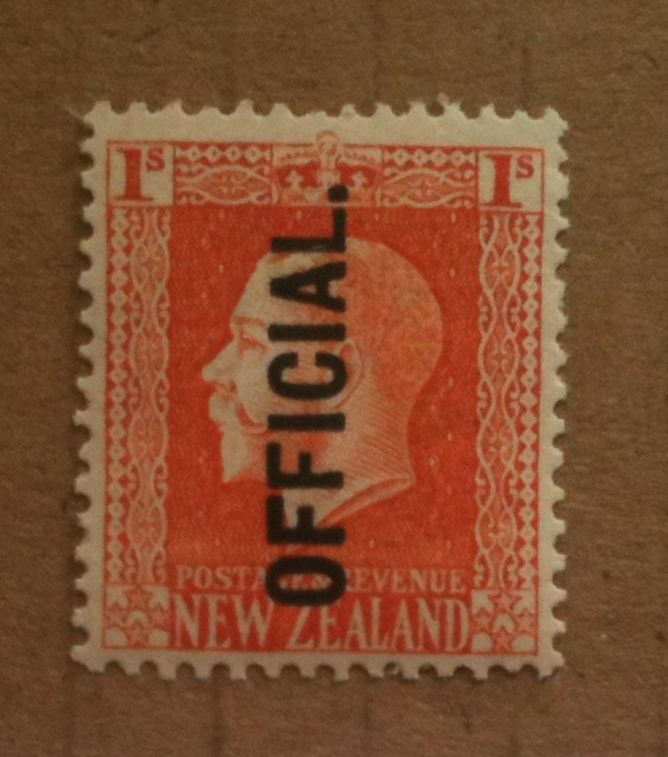 NEW ZEALAND 1915 Geo 5th Official 1/- Salmon. - 74129 - UHM image 0