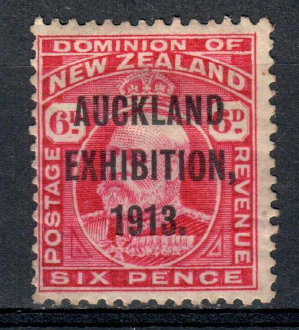 NEW ZEALAND 1913 Auckland Exhibition 6d Red. Hinge remains. - 39399 - Mint image 0