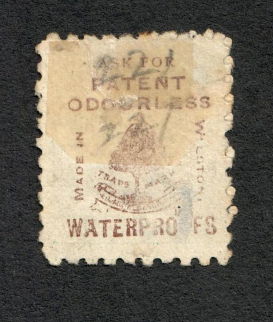 NEW ZEALAND 1882 Victoria 1st Second Sideface 4d Green. Second setting in Brown-Red. Trapps Waterproofs. - 3953 - Used image 1