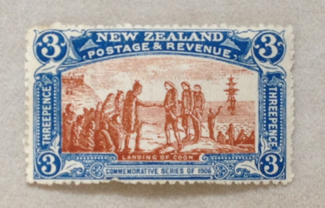 NEW ZEALAND 1906 Christchurch Exhibition 3d Landing. Nice bright colours. Crease not visible at first look. - 3643 - Postmark image 0
