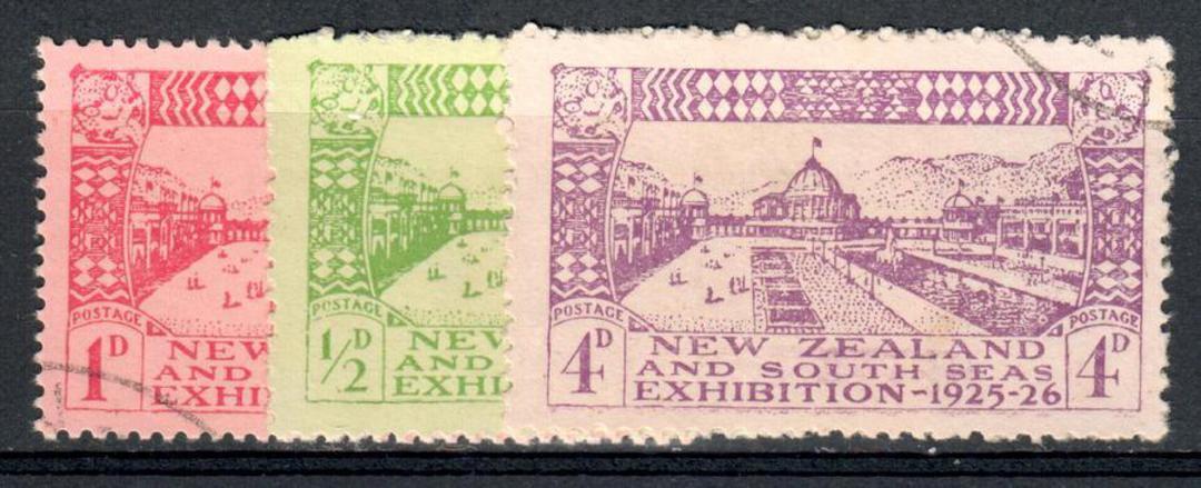 NEW ZEALAND 1925 Dunedin Exhibition. Set of 3. - 10138 - FU image 0