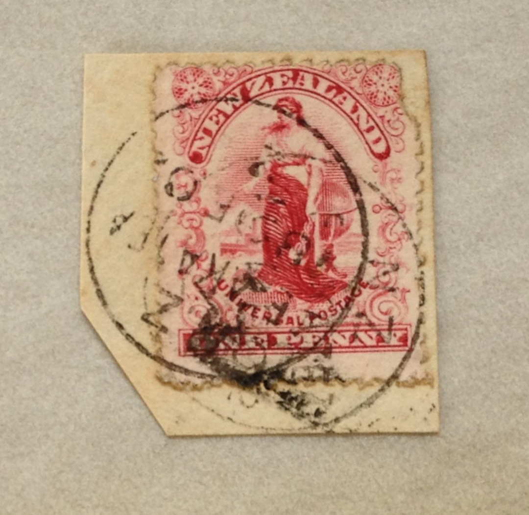 NEW ZEALAND 1898 ½d Mt Cook. Pirie paper. Perf 11. Some light tone spots. Block of 4 with top selvedge. - 79396 - UHM image 0