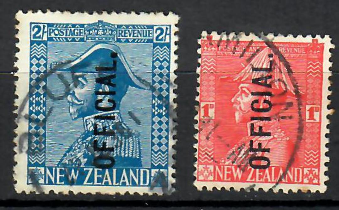 NEW ZEALAND 1926 Geo 5th Admiral Officials. Set of 2. - 70474 - FU image 0