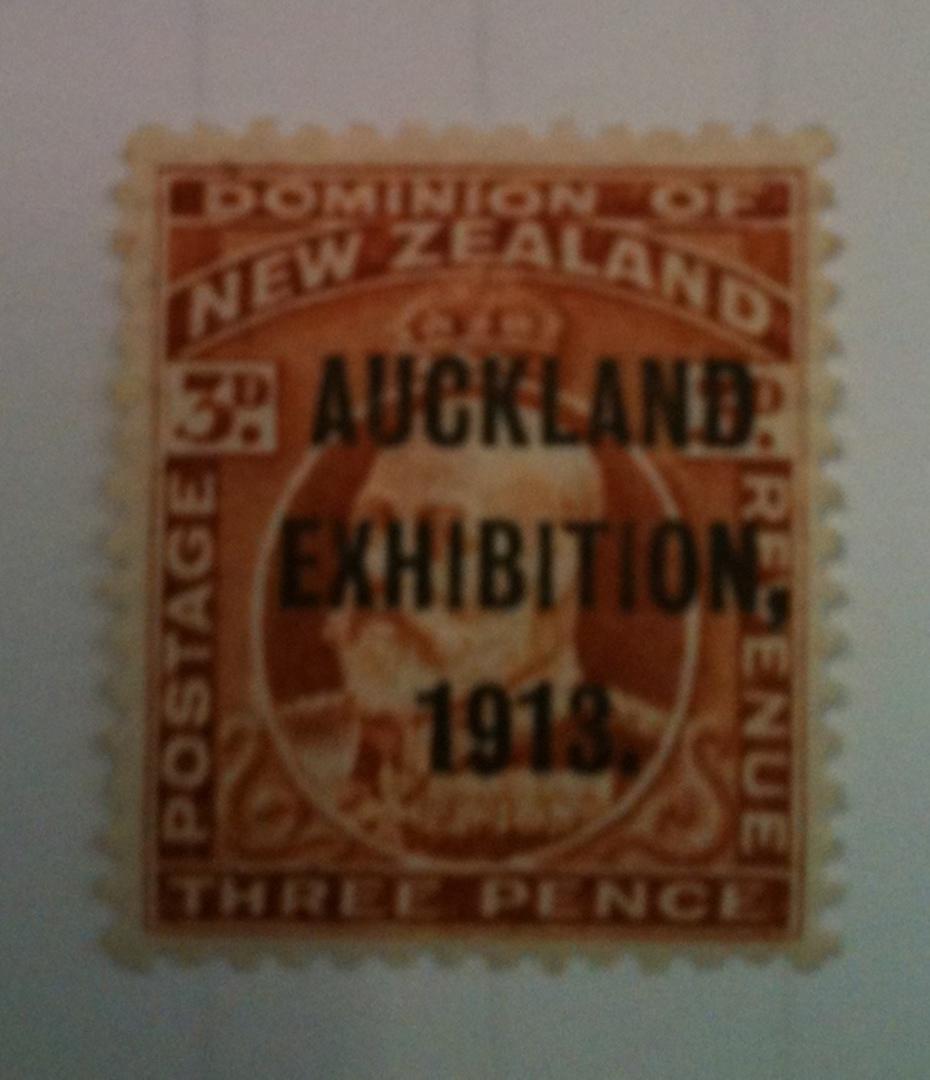 NEW ZEALAND 1913 Auckland Exhibition 3d Brown. - 71912 - UHM image 0