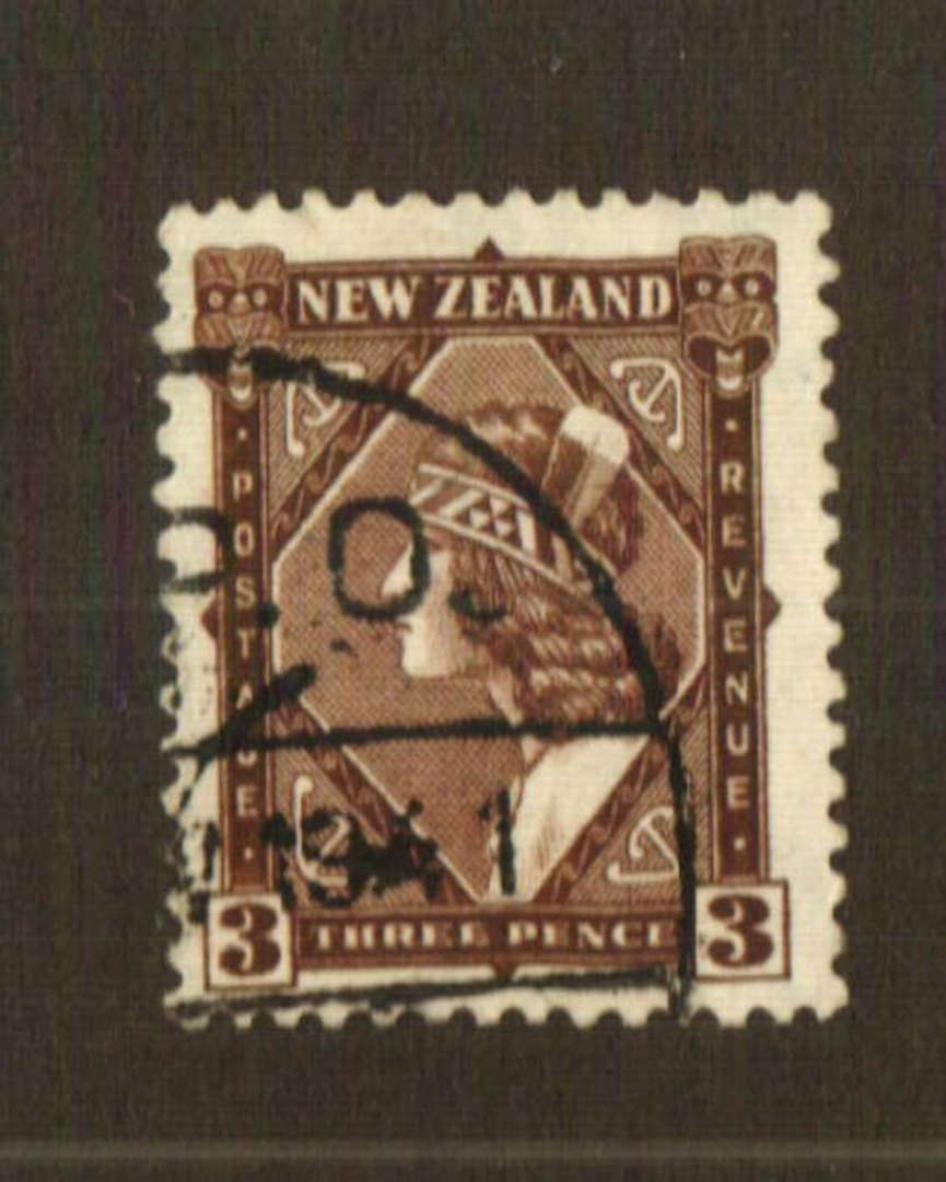 NEW ZEALAND 1935 Pictorial 3d Brown with wartime postmark from Egypt. - 74777 - FU image 0