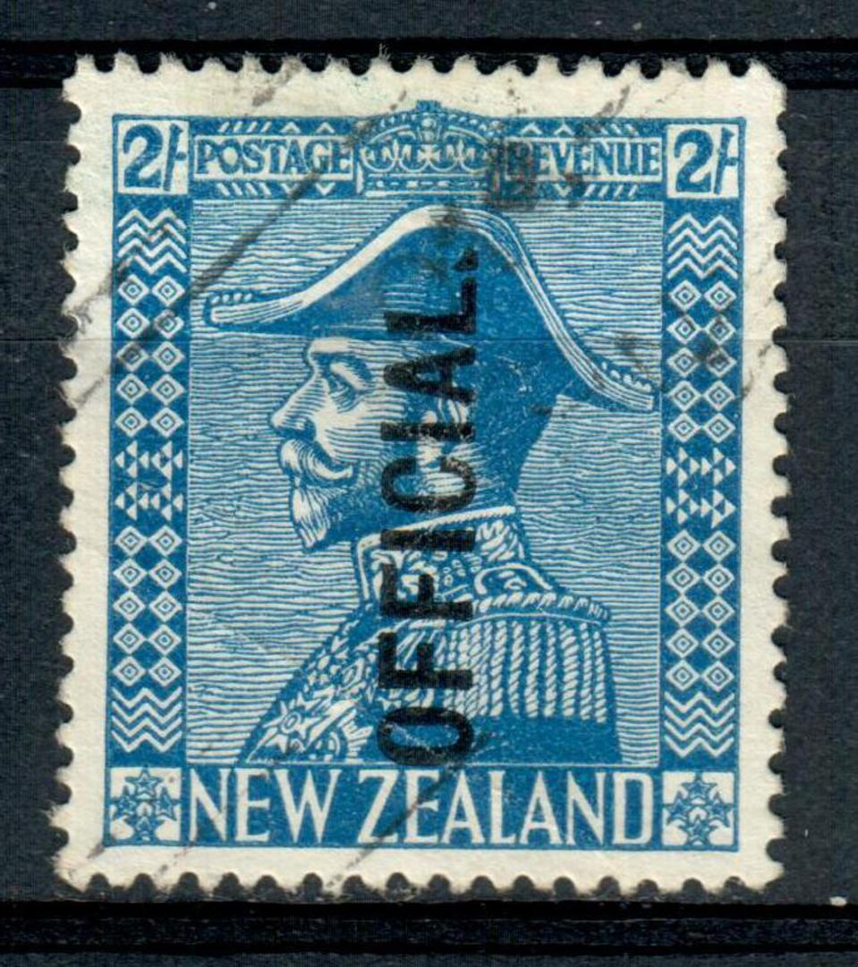 NEW ZEALAND 1915 Geo 5th Admiral Official 2/* Dark Blue. - 4305 - FU image 0