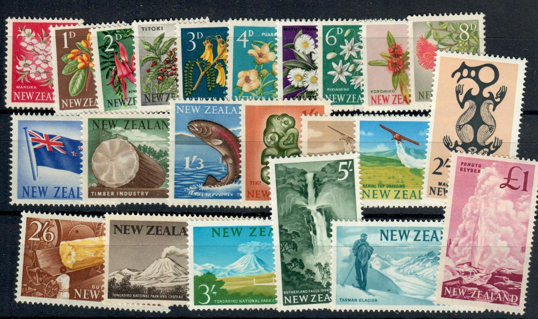 NEW ZEALAND 1960 Pictorials. Set of 23. - 21049 - LHM image 0