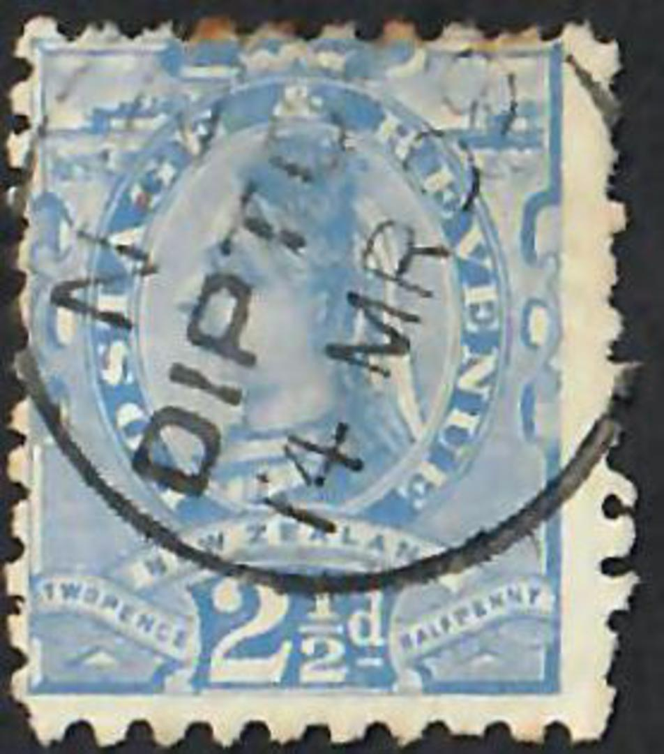 NEW ZEALAND 1882 Victoria 1st Second Sideface 2½d Blue. - 10030 - FU image 0
