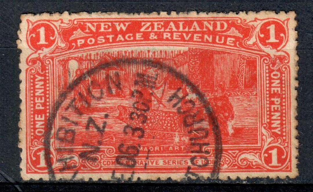 NEW ZEALAND 1906 Christchurch Exhibition 1d Vermilion. Exhibition cancel. - 75129 - VFU image 0