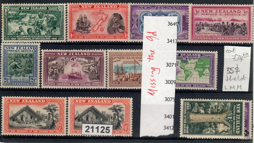 NEW ZEALAND 1940 Centennial. Nice set. Fresh and clean. Priced to sell - 21125 - LHM image 0