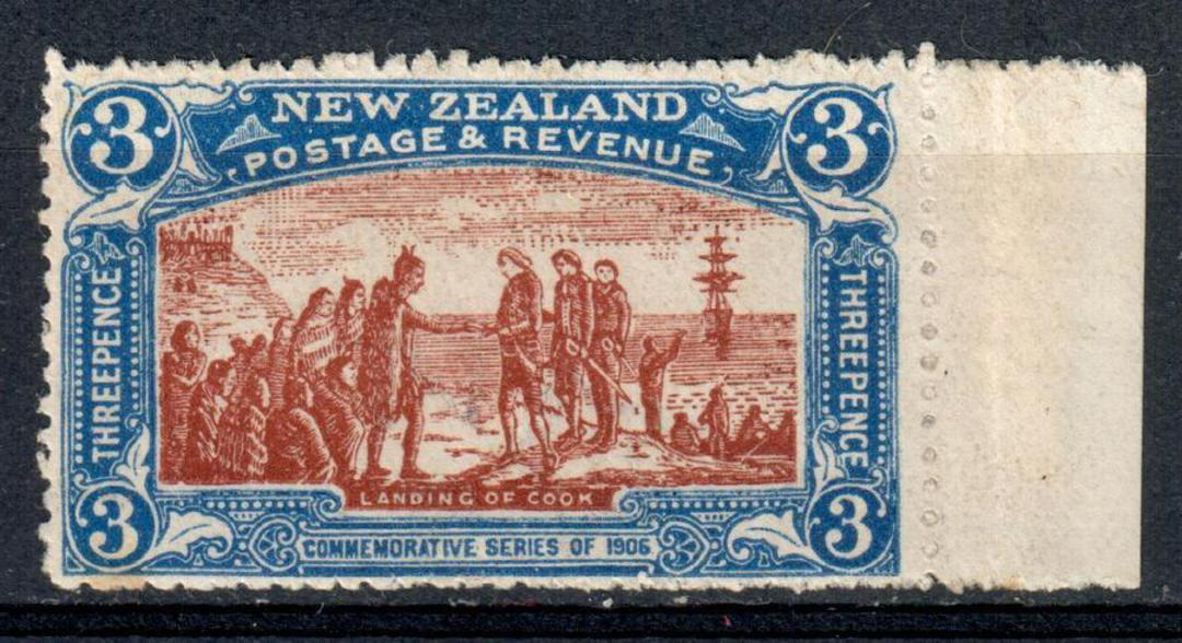 NEW ZEALAND 1906 Christchurch Exhibition 3d Blue and Brown. Slight toning. Very lightly hinged. - 75128 - LHM image 0
