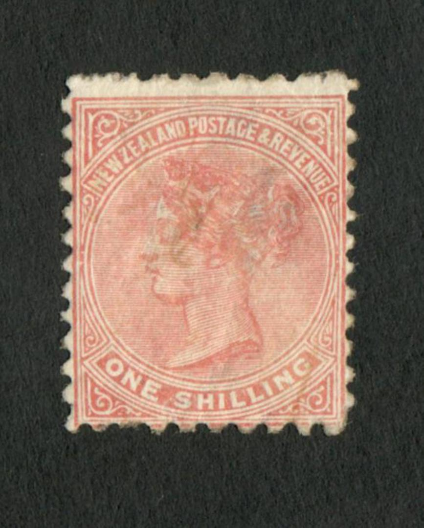 NEW ZEALAND 1882 Second Sideface 1/- Pale Red-Brown.  Rotary Perf 10x11. - 4212 - Mint image 0