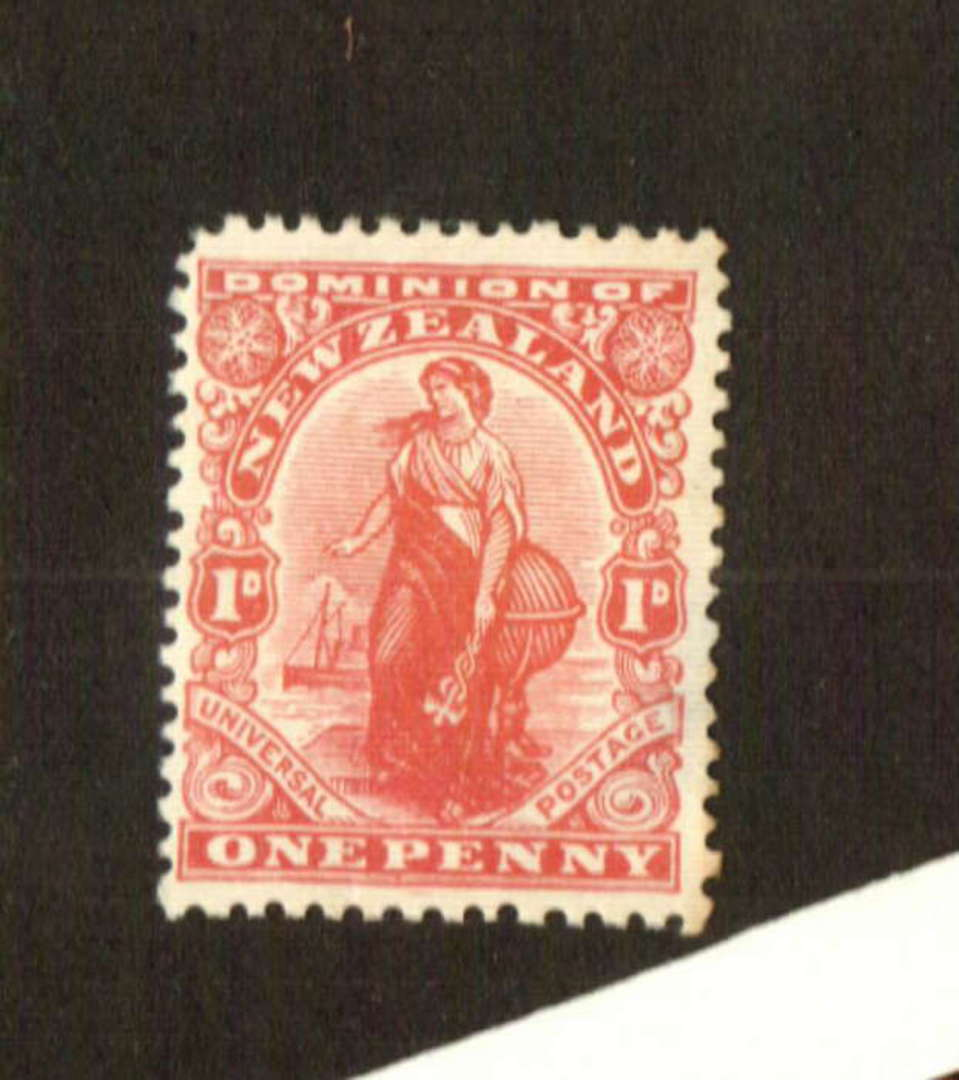 NEW ZEALAND 1925 1d Dominion on Art paper with Black Watermark. One dull corner. - 74680 - LHM image 0