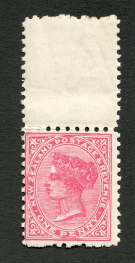 NEW ZEALAND 1882 Second Sideface 1d Rose. Rotary Perf 10x11. - 4210 - UHM image 0