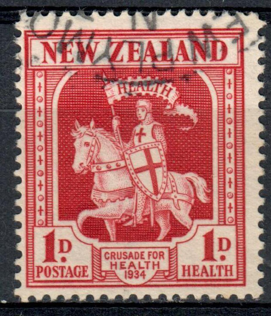 NEW ZEALAND 1934 Health Crusader 1d Carmine. - 19334 - VFU image 0