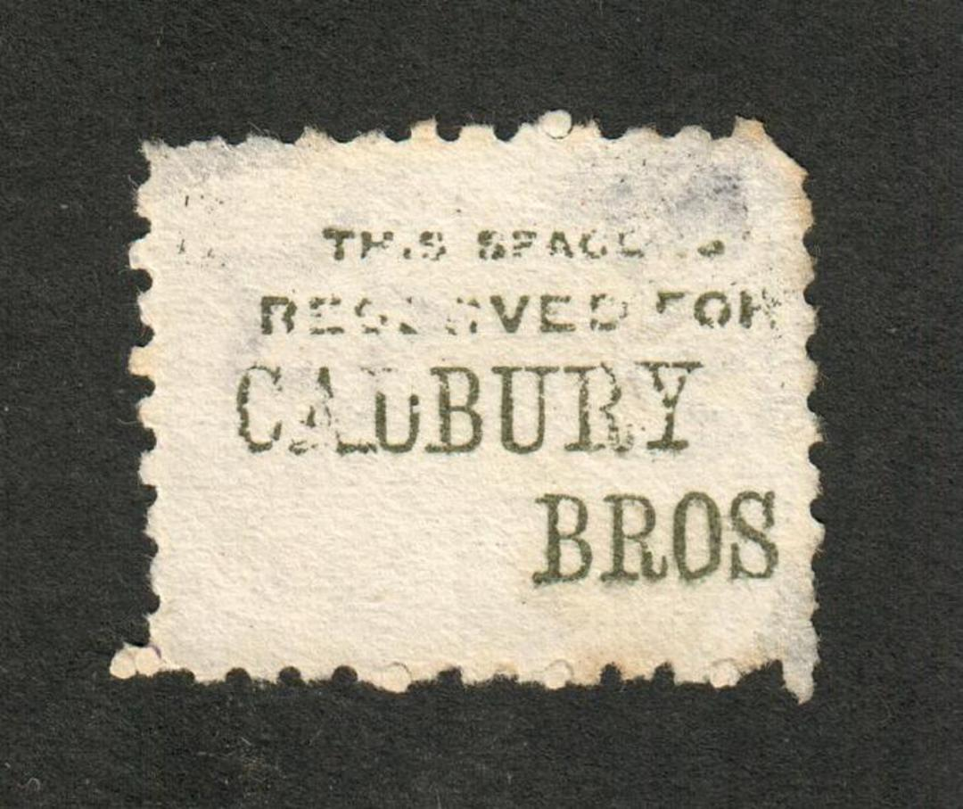 NEW ZEALAND 1882 Victoria 1st Second Sideface 2d Lilac. Perf 10. Advert in Green. Cadbury Bros .......................... - 3989 image 0