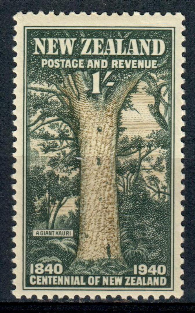 NEW ZEALAND 1940 Centennial 1/- Kauri Tree. - 238 - UHM image 0