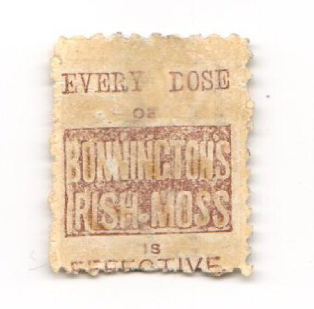 NEW ZEALAND 1882 Victoria 1st Second Sideface 6d Brown. Bonningtons Irish Moss. Perf 10. Mauve to Brown-Purple. - 3983 - Used image 0