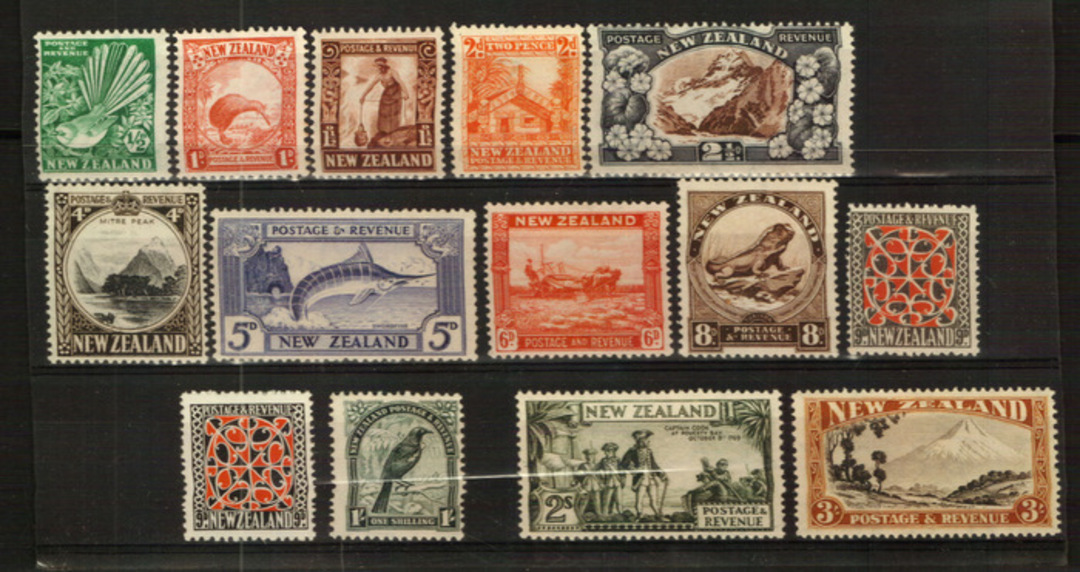 NEW ZEALAND 1935 Pictorials. Set of 15. - 24011 - UHM image 0
