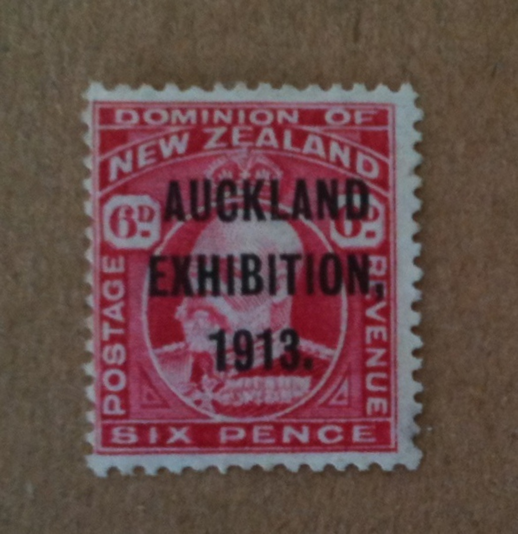 NEW ZEALAND 1913 Auckland Exhibition 6d Red. - 74950 - UHM image 0