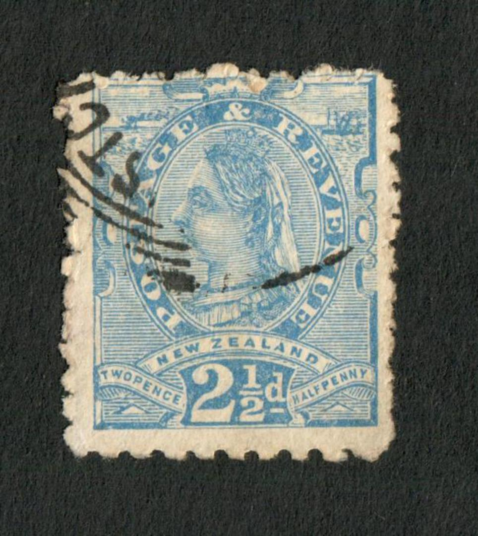 NEW ZEALAND 1882 Second Sideface 2½d Blue. Perf 10x11. - 4223 - Used image 0