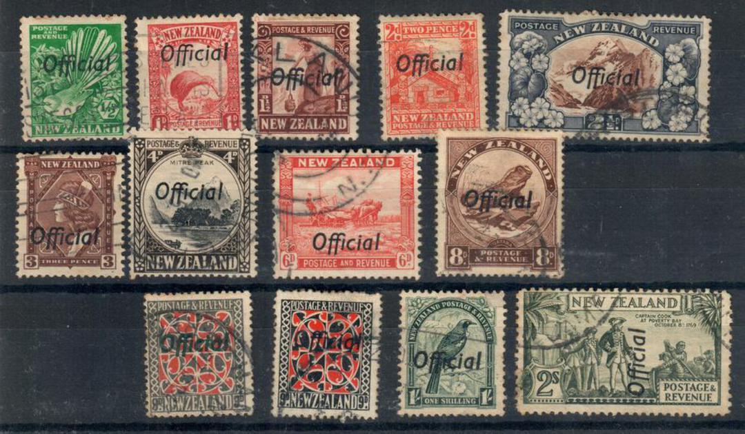 NEW ZEALAND 1940 Centennial Officials. Set of 11. - 24048 - FU image 0