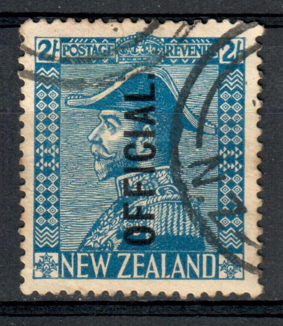 NEW ZEALAND 1926 Geo 5th Admiral Official 2/- Blue. - 10145 - FU image 0