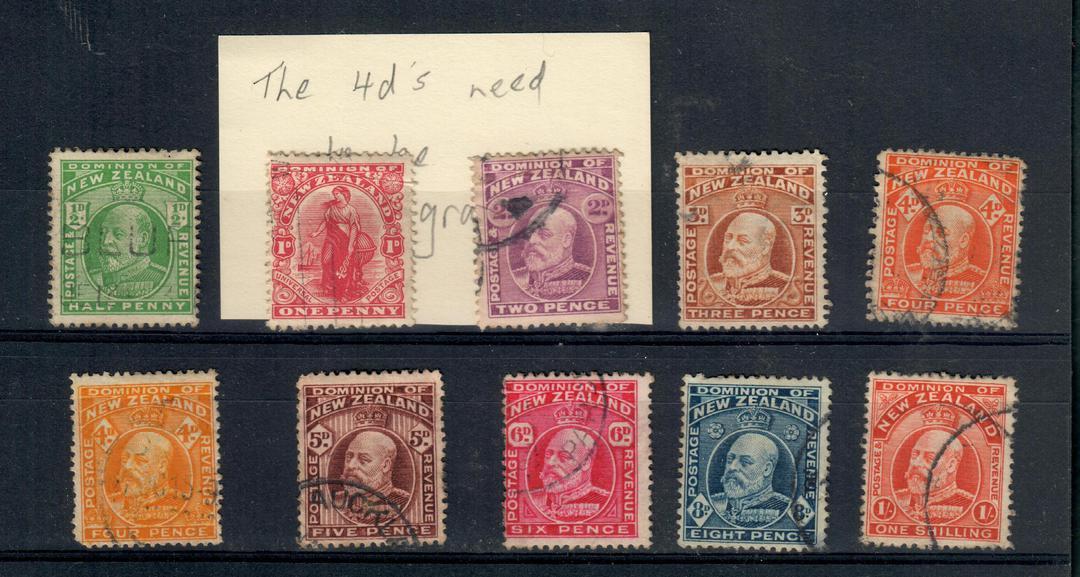 NEW ZEALAND 1909 Edward 7th Definitives. Set of 10. - 20989 - FU image 0