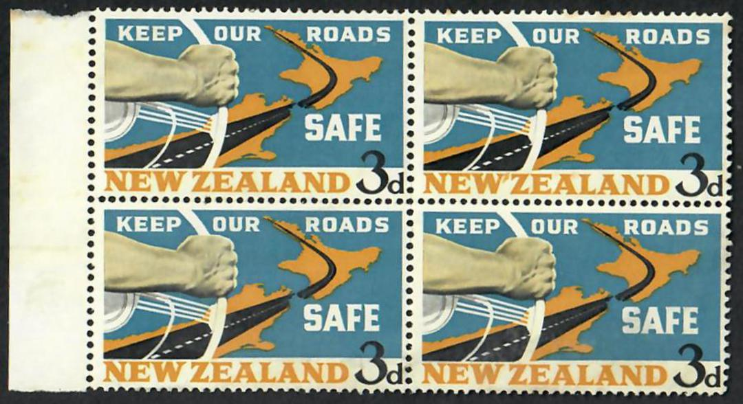 NEW ZEALAND 1964 Road Safety. Block of 4 with the Apostrophe Flaw. - 21871 - UHM image 0