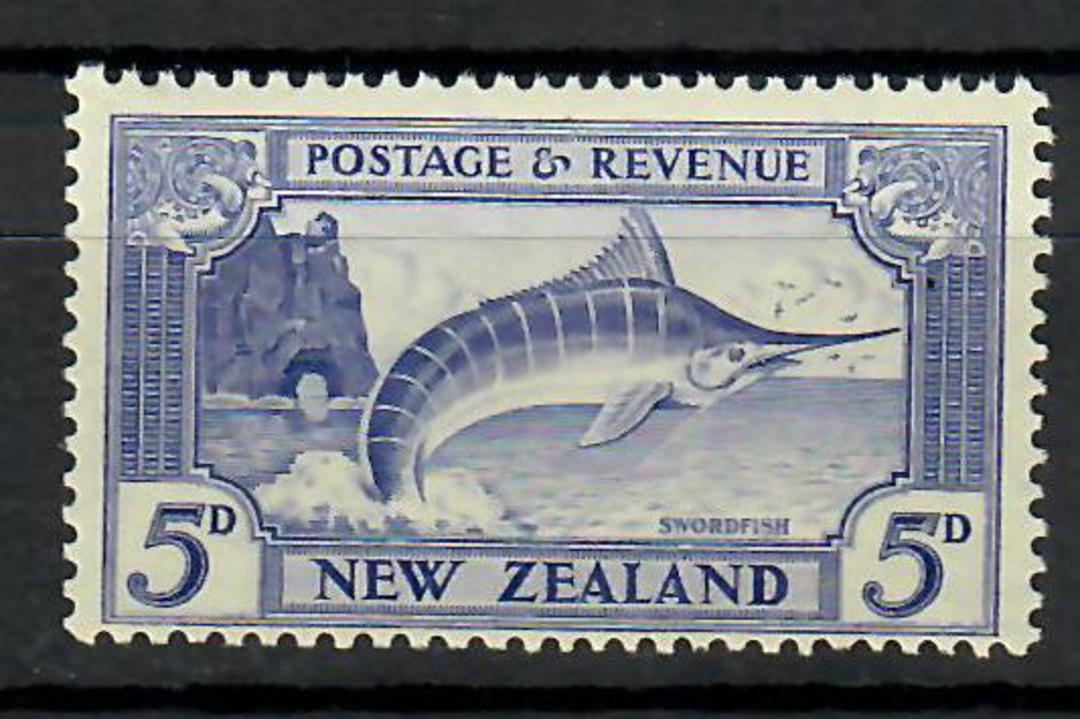 NEW ZEALAND 1935 Pictorial 5d Blue. Perf 14-13 x 13½. Compound perf. - 70483 - UHM image 0