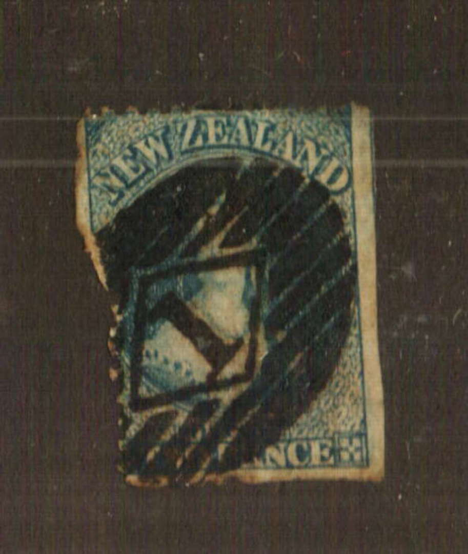NEW ZEALAND 1862 Full Face Queen 2d Blue. Has it been reperfed. Worth a look. - 70730 - Used image 0