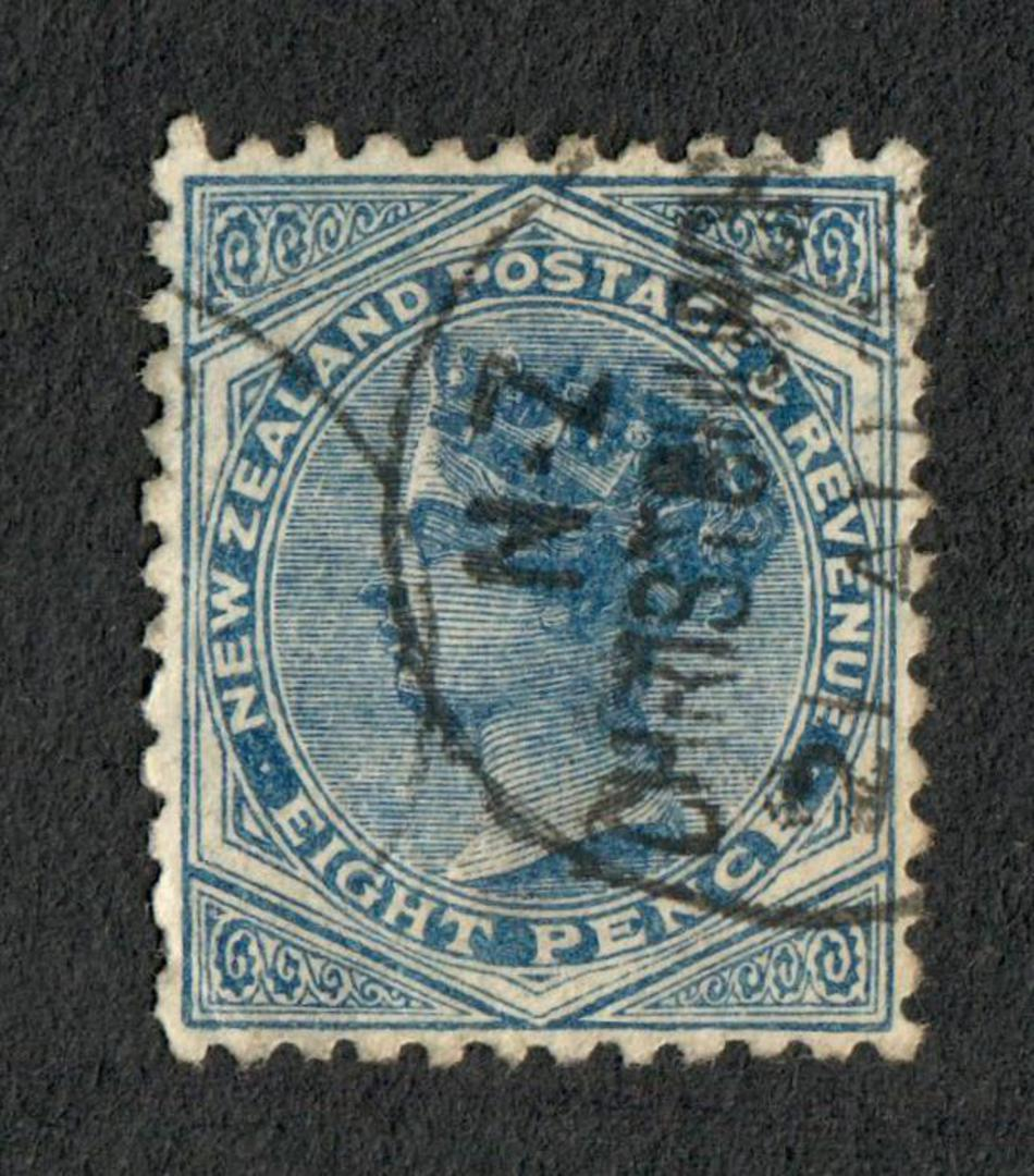 NEW ZEALAND 1882 Victoria 1st Second Sideface 8d Blue. - 10035 - FU image 0