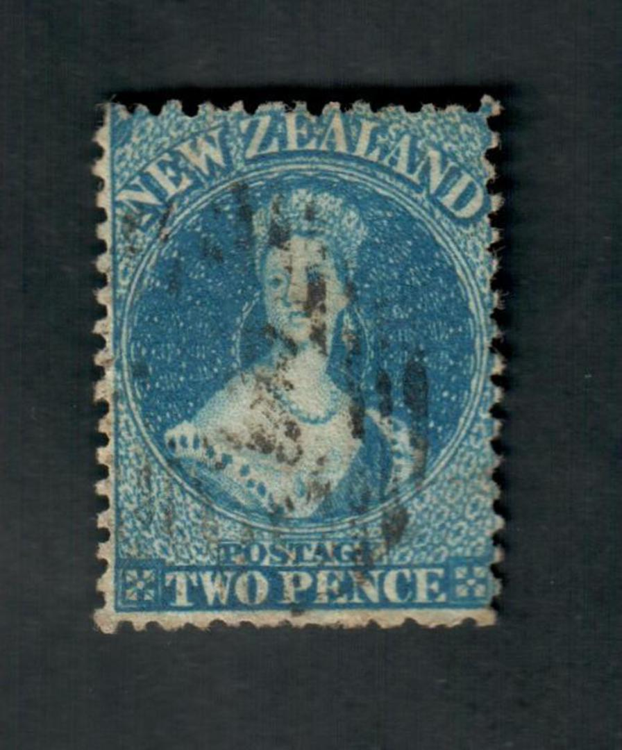 NEW ZEALAND 1862 Full Face Queen 2d Blue. Sound copy. - 39054 - Used image 0