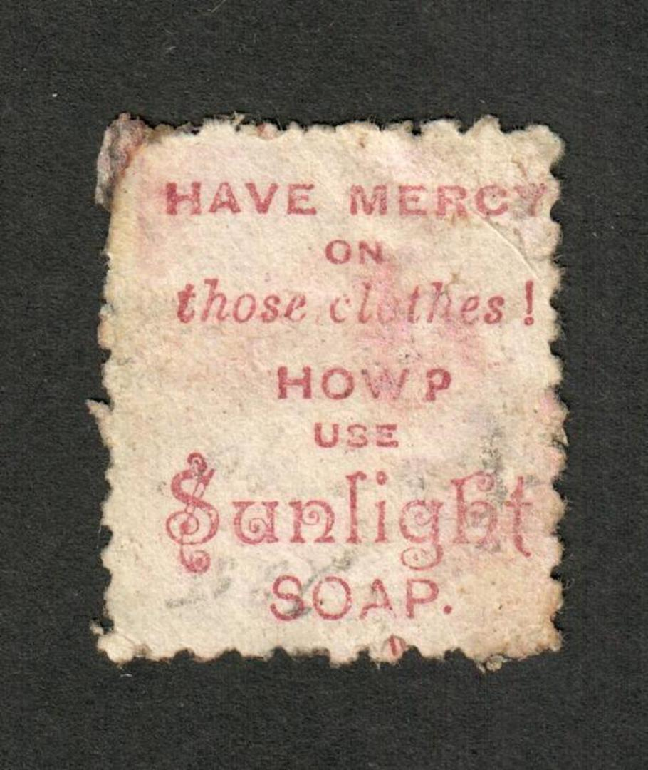 NEW ZEALAND 1882 Victoria 1st Second Sideface 1/- Red-Brown. Perf 10. 3rd setting in Red to Brown-Red. Sunlight Soap. - 4013 - U image 0